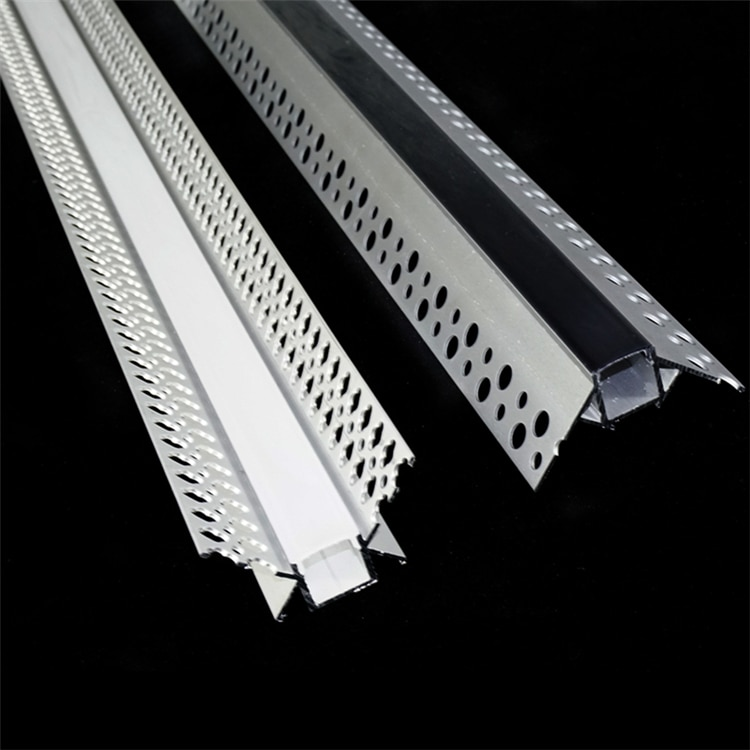 5-30 Pieces 100cm 40 Inch Positive Negative Wall LED Aluminium Channel,Recessed DryWall Gypsum Board Trimless 12mm Strip Profile