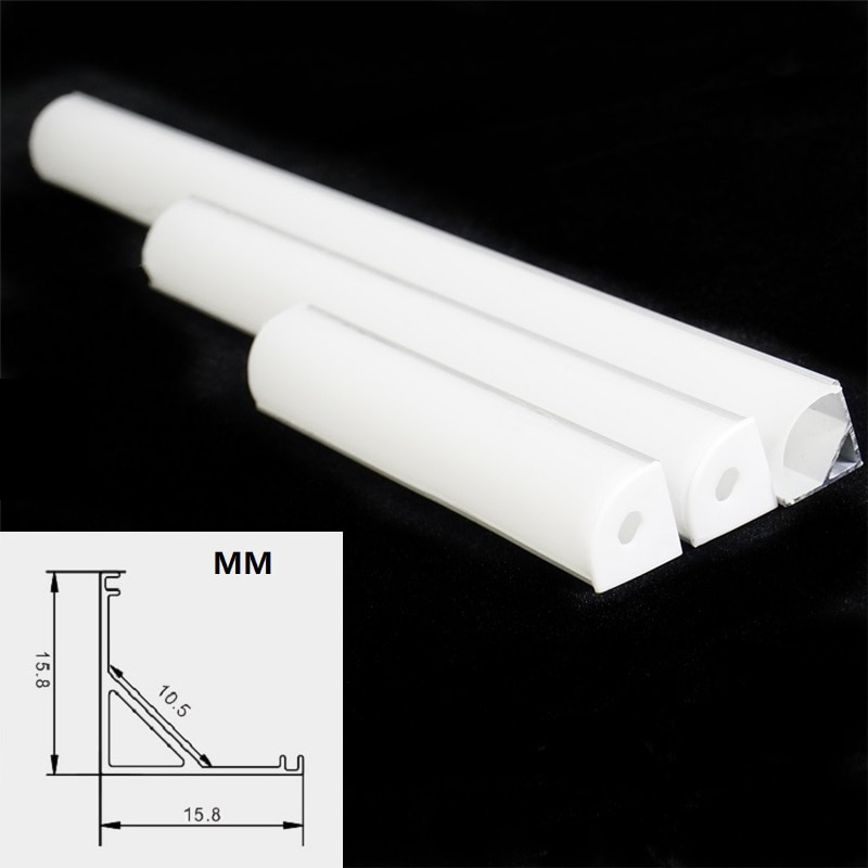 20 pcs LED Aluminium profile,45 Degree Corner V Shape Channel With 2835 Strip Cable on 2 Sides ,2 12V 36W Driver