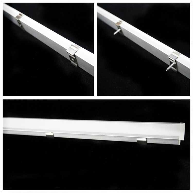 5/10-Pack 3.3FT 1M Recessed Aluminium Channel Diffuser,Built in Double Row 21.5mm Tape Dual 5050 5630 Profile With Milky Cover