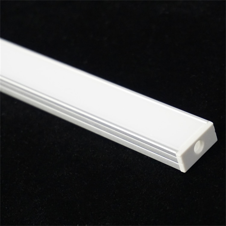 5/10-Pack 3.3FT 1M LED Strip Channel With Milky Cover ,Under Cabinet U Shape 16MM Philips Hue Plus Tape Light Aluminium Profile