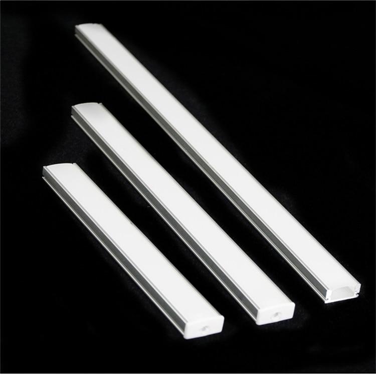5Pieces U Flat 12/16/20 Inch 2811 2812 2813 6803 2801 6812 9822 Programmable LED Strip Aluminium Profile,Flexibe Tape Diffuser