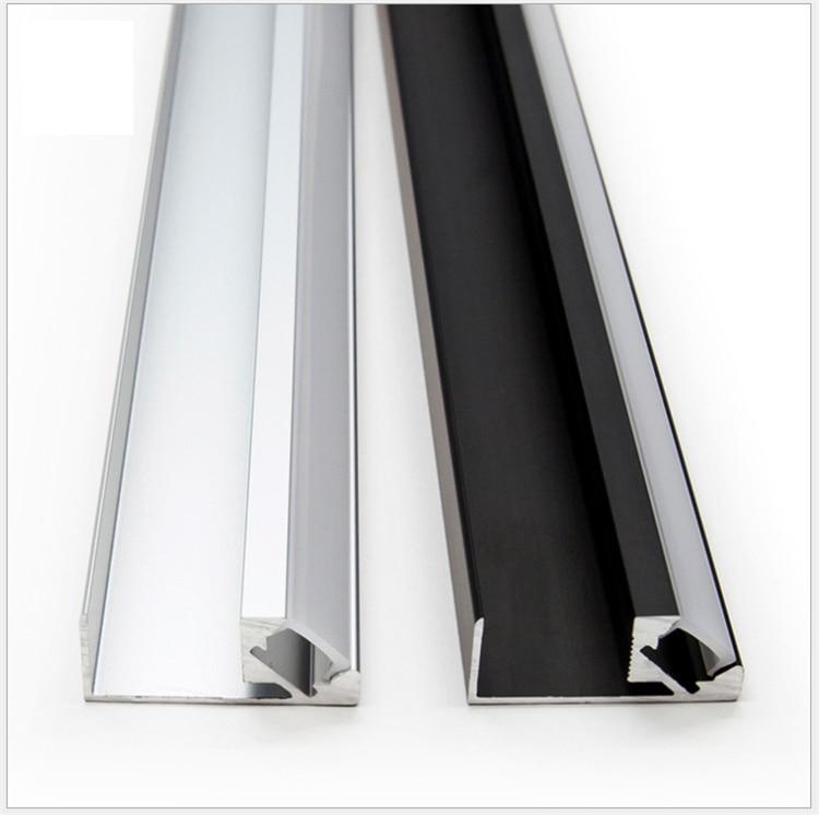 30Pieces 100cm 40 Inch 15MM Panel Clamp 45Degree Illuminate LED Aluminium Channel,8mm Cabinet Wardrobe Showcase Bookcase Profile