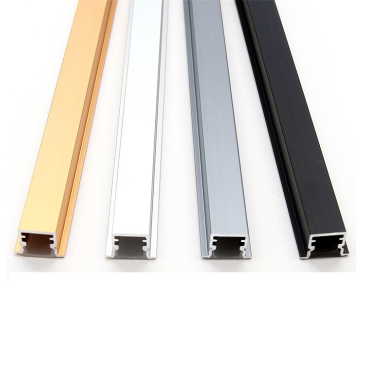 60Pieces 100cm 40 Inch Recessed LED Aluminium Channel,Built in Wardrobe Closet 12V Strip Light Show Case Cabinet Bar Profile