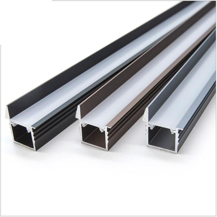 30Pieces 100cm 40 Inch Light Shield LED Aluminium Channel,Anti Glare Recessed 12V Strip Wardrobe Bookcase Cabinet Bar Profile