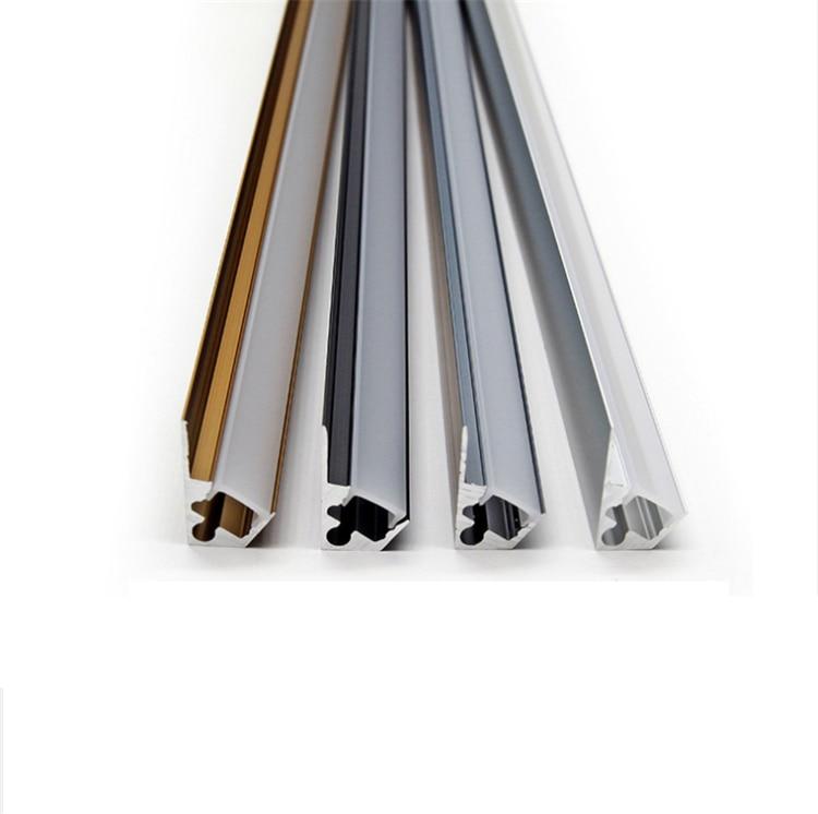 30Pieces 100cm 40 Inch 45Degree Showcase LED Aluminium Channel,Wardrobe Display 8mm 12V Strip Light Bookcase Cabinet Bar Profile