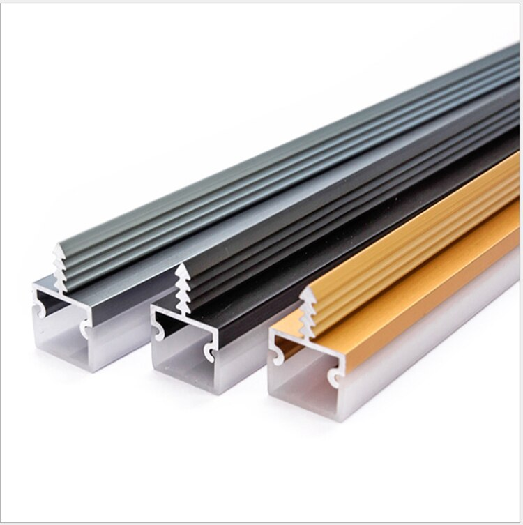 30Pieces 100cm 40 Inch 3 Side Illuminate LED Aluminium Channel,Recessed 8-12mm 12V Strip Light Cabinet Outline Bar Profile