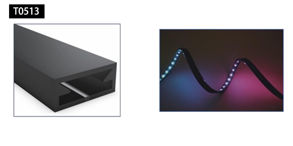 LED Neon Rope Tube Flexible led Strip Light black Silica Gel Soft Lamp Tube SK6812RGBW WS2811 WS2812B 5050IP67 Waterproof