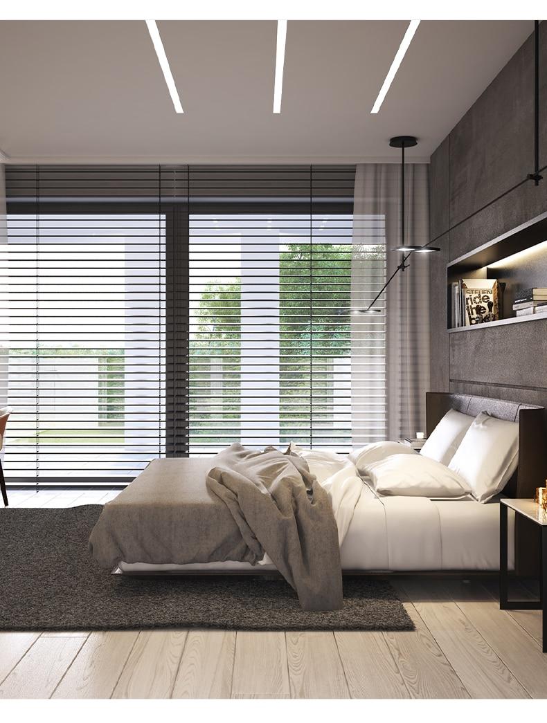 15W Decorative Aluminum Profile Recessed LED Ceiling Light Fixture Linear Bar Lights For Indoor Lighting