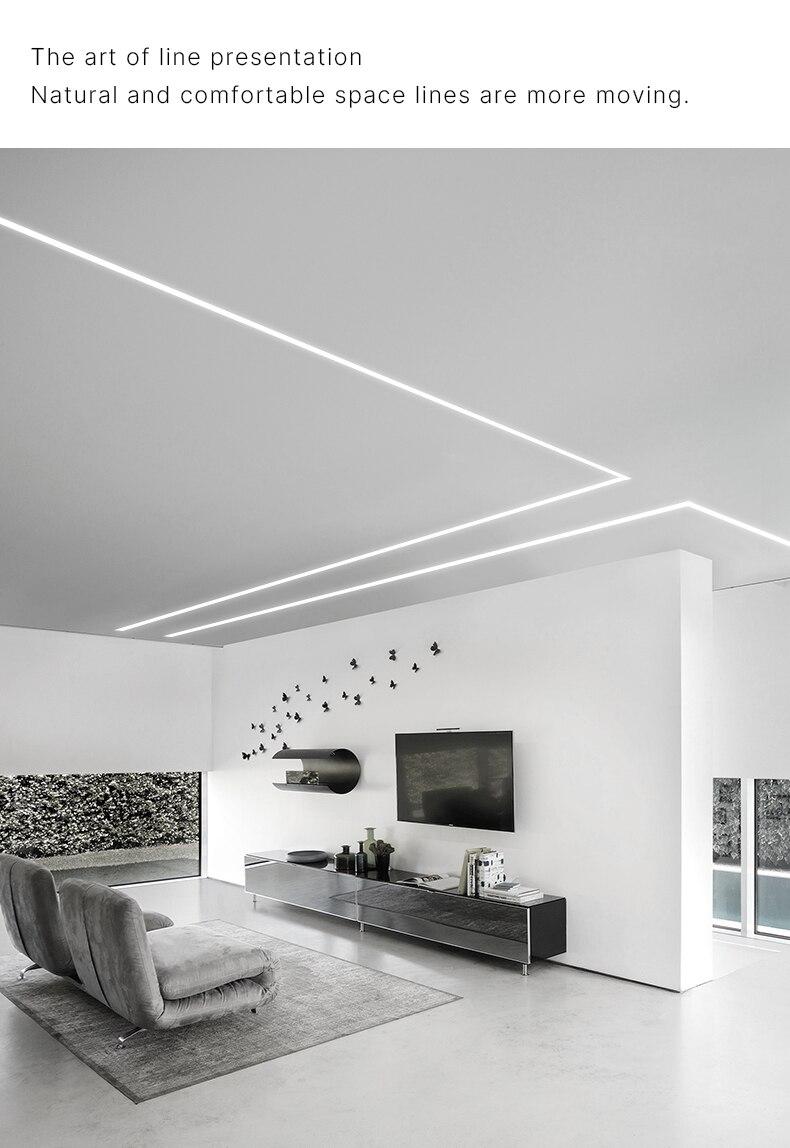 15W Contraste Linéaire LED Plafond Lumières de Barre de Profil En Aluminium Enfoncé Par Plafond Mur Led Rondelle Pour L'éclairage D'intérieur