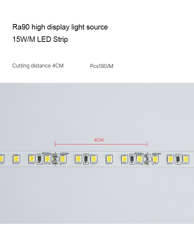 18W Vers le bas Linéaire BARRE DE LED Lumières Trimless Profil En Aluminium Encastré Mur Led Rondelle Pour Coin De Plafond Éclairage Intérieur