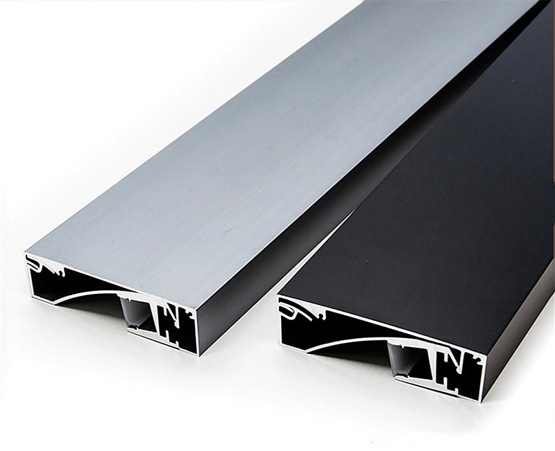 Bande lumineuse LED en aluminium pour plinthes, 1M, 1 à 10 pièces/lot, bordure encastrée, canal pour couverture laiteuse, décoration de la maison, lampe de Bar