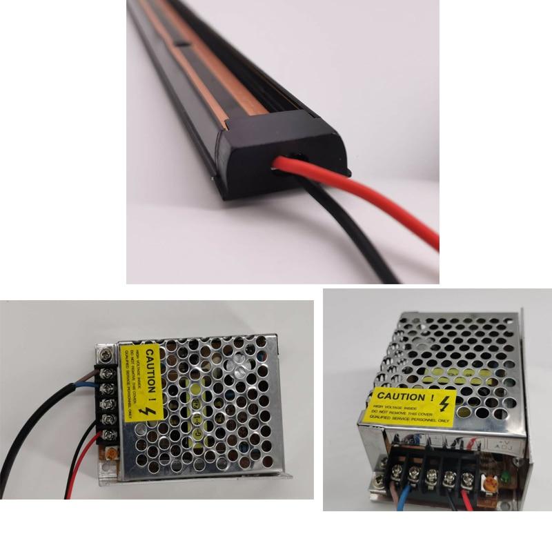 Lampe de piste magnétique LED, luminaire pour maison, luminaire pour magasin et boutique fermé, 3W