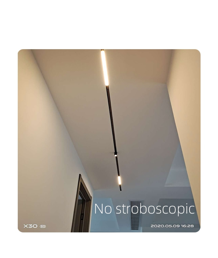 VOOL LED Recessed Magnet Track Lights DC 48V 5W 5.5W 7W 11W Led Lamps Magnetic Rail Ceiling System For Indoor Track Lighting