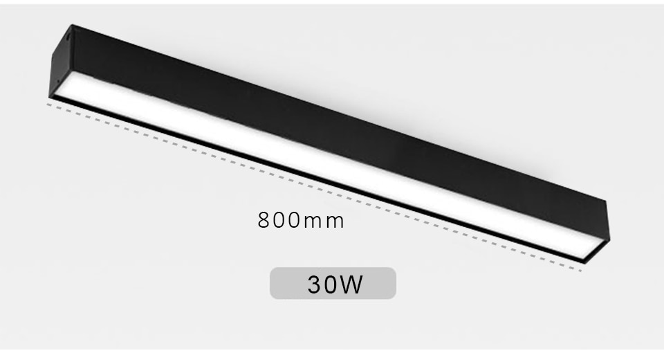 Indoor Track Lighting Rail Magnetic Ceiling System Black Continuous Magnet lights DC24V linear Fixture led Channel track lamp
