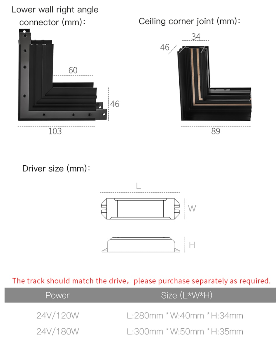 (Mini) SCON New arrival 24V Creative aluminum 24mm recessed track rails for magnet track lights series