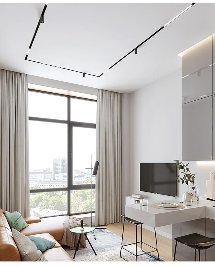 SCON Housing Decoration Indoor Black Linear magnetic led Spot Light