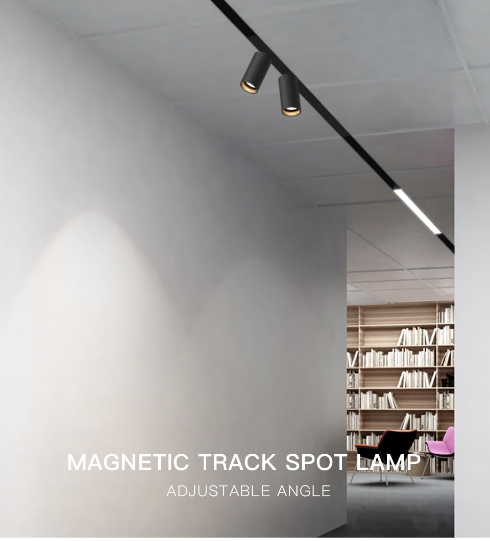 SCON interior design studio clothing shop sought after 350° rotatable Magnetic Channel spot light fixture track lighting series