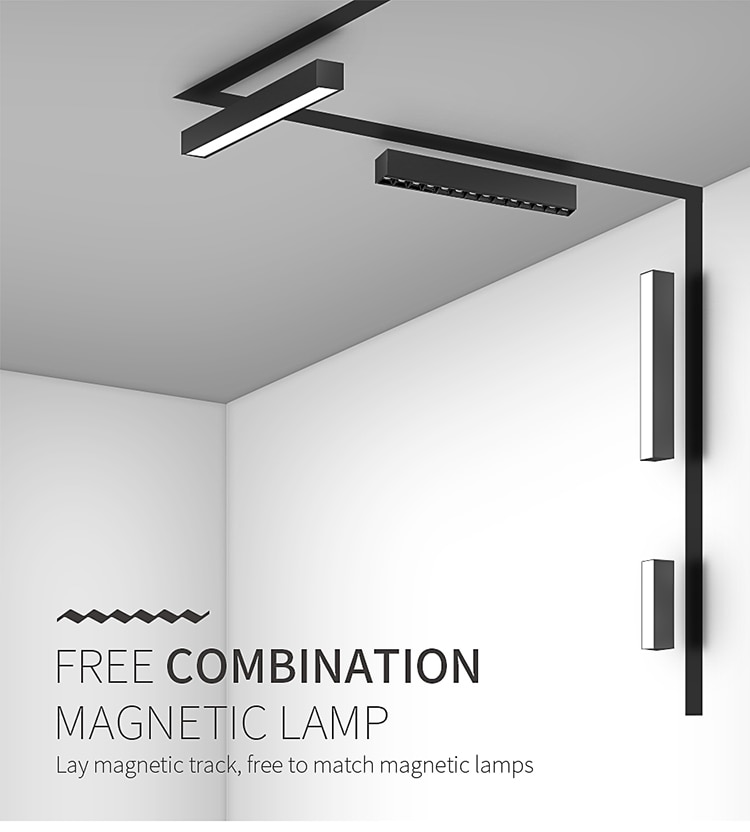 Scon 5W 10W 15W 30W 90 degree luminaire linear Indoor magnetic led light