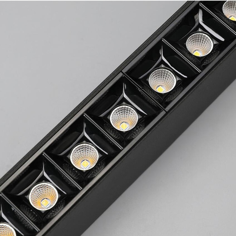 High Power Magnetic LED Linear Track Lights LED Spotlight Ceiling Lamps Flood Light for Clothes Shop Store 10W 15W 20W 25W 30W