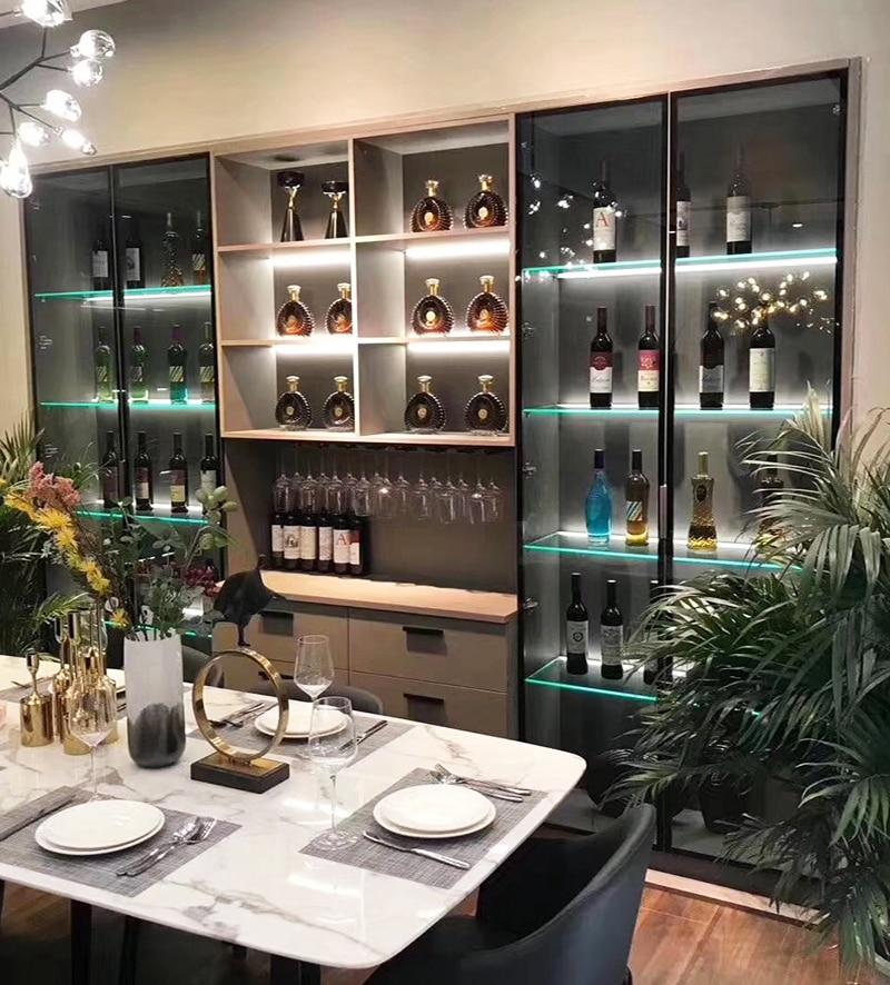 LED Cabinet Layer light Splint Clip lamp Aluminum strip lights Glass Shelf Back Side display case sideboard cocktail Liquor