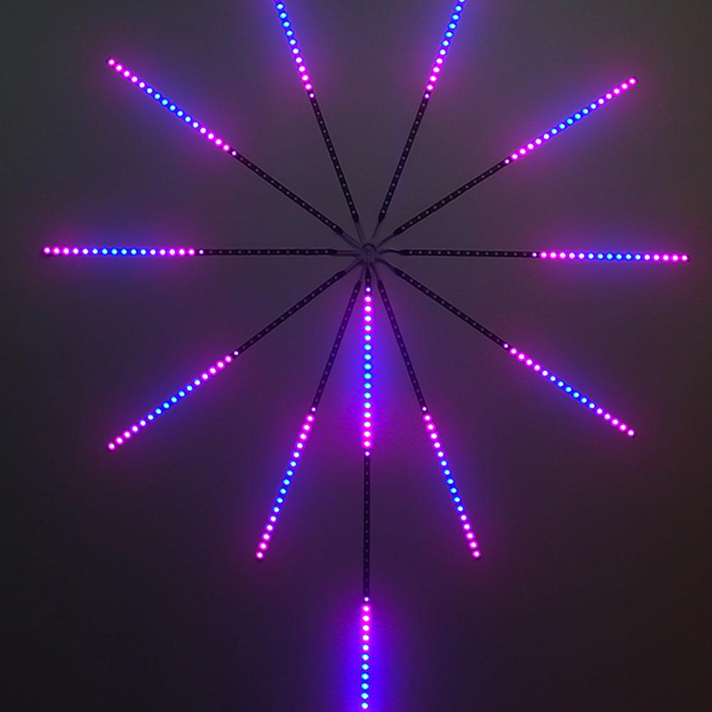 Fireworks LED Strip Light RGB Festoon Fairy Light Music Control Meteor Lamp Marquee Home Wedding Christmas Room Decor Light Tape