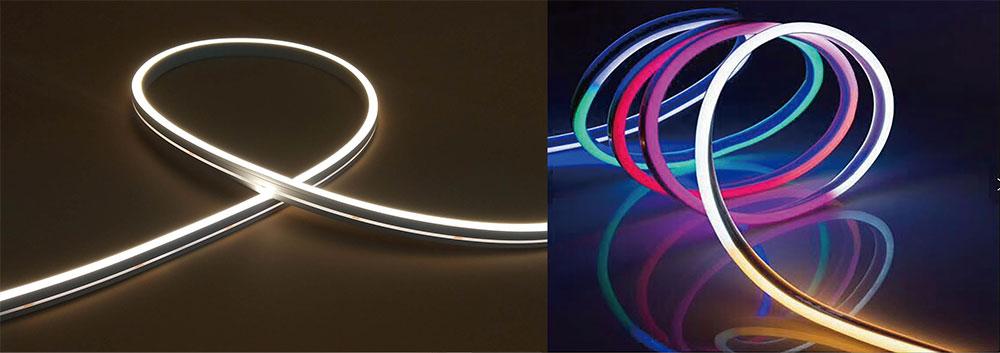 Luces LED Neon Rope Tube Flexible Led Strip Light Dlack Silica Gel Soft Lamp Tube SK6812RGBW WS2811 WS2812B 5050 IP67 Waterproof