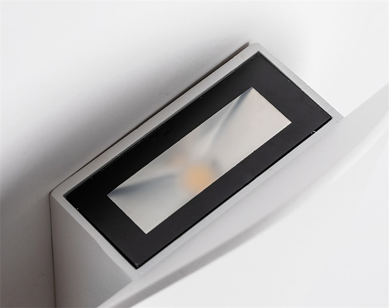 7w Modern Interior Wall Lamps Aluminum White And Black Brushed Gold Decoration Living Room Bedside Wall Lights BL05