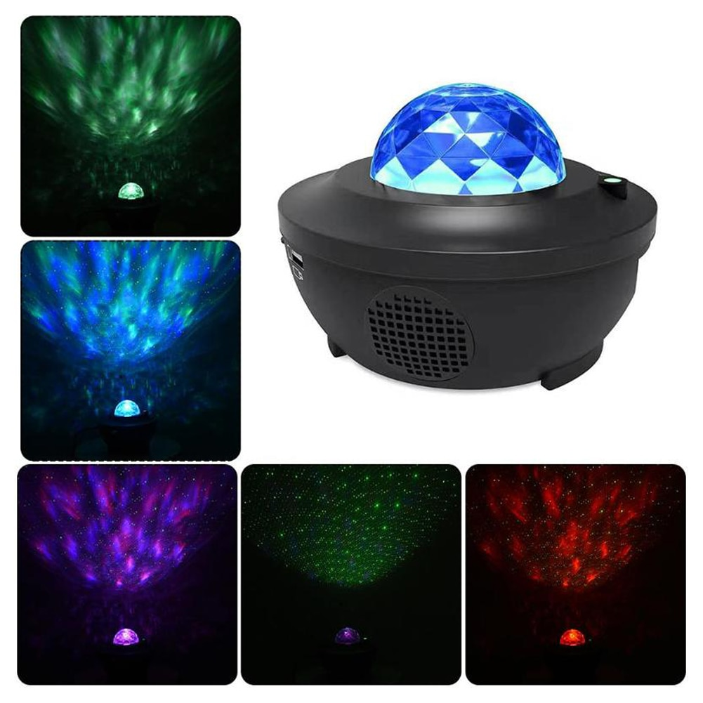 LED Star Galaxy Projector Night Light Room Decor Rotate Starry Sky Porjectors Bluetooth Luminaria Decoration Bedroom Lamp Gifts
