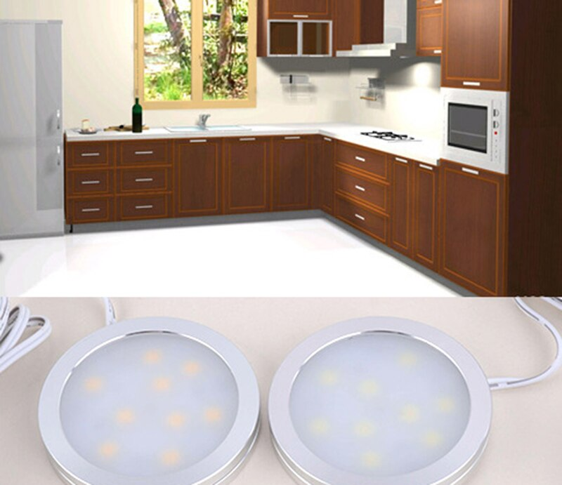 1/3/6pcs LED cabinet light 2W with 12V power adapter indoor lighting for under kitchen cabinet Home wardrobe Showcase lamp decor