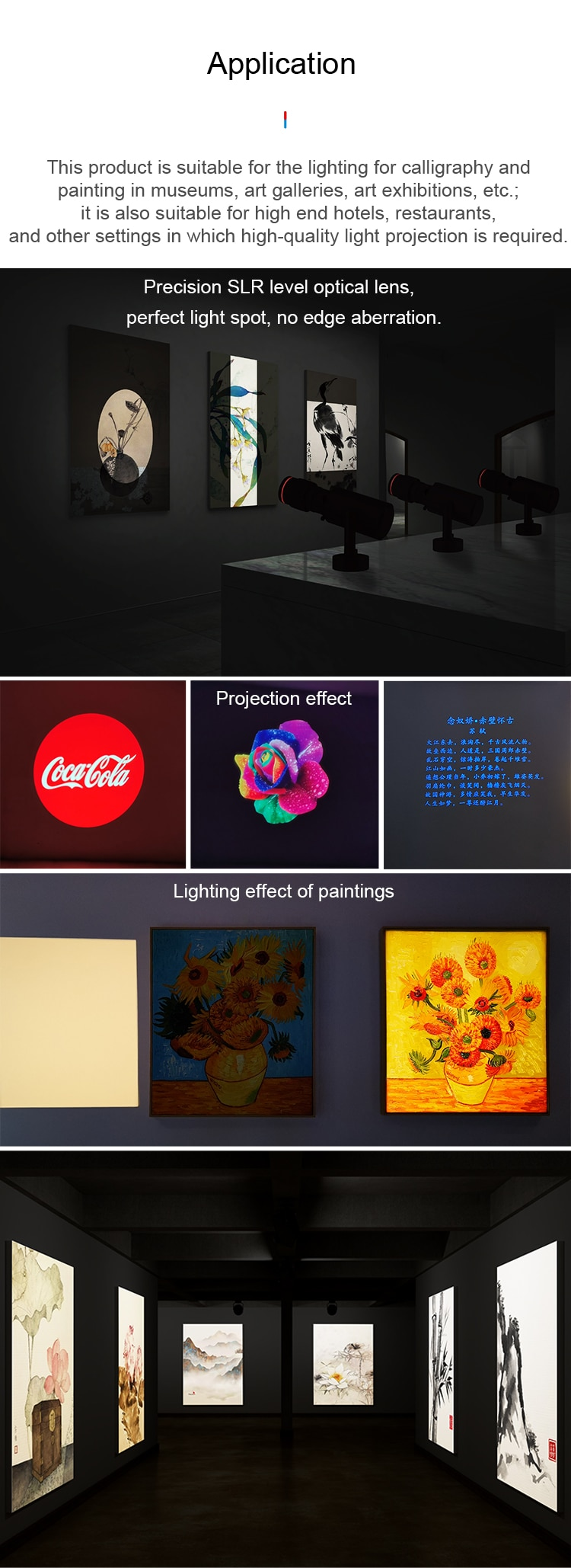 BESUN shapeable track light for framing projector in museum art gallery hotel exhibitions shapeable track light